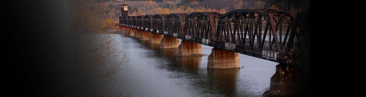 CN Bridge over fraser river in prince george.  Photo taken by waferboard